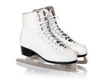 Figure skates isolated on white. Background stock photo
