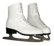 Figure skates isolated on white Royalty Free Stock Photos