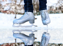 Free Figure Skates On A Skating-rink Stock Photos - 59143603