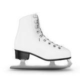 Figure skates side view. On a white. 3d illustration Stock Images