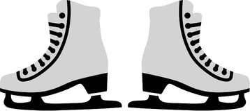 Figure Skates. Sports vector icon vector Stock Photography