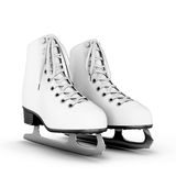 Figure skates on a white. Figure skates isolated on white background. 3d illustration Royalty Free Stock Image
