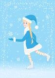 Figure Skating. Girl  illustration royalty free illustration