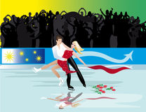 Figure skating. Pair performance in figure skating Royalty Free Stock Photo