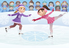Figure skating. Illustration of sports competitions on figure skating Royalty Free Stock Image