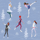 Figure skating background Royalty Free Stock Image