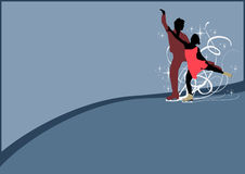 Figure Skating background. Figure Skating poster: people on ice background with space stock illustration