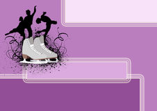 Figure Skating background Royalty Free Stock Photo