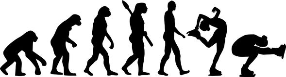 Figure Skating Evolution. Sports vector vector Royalty Free Stock Photo