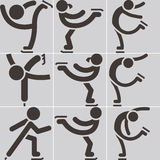 Figure skating icon. Figure skating  - set of icons Stock Photography