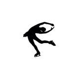 Figure skating individual, silhouettes Stock Photos