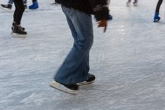 figure skating in januar winter afternoon royalty free stock images