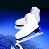 Figure skating, sports. The skates for figure skating on ice Stock Images