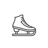 Figure skating symbol. ice skate line icon, outline vector sign, Stock Image