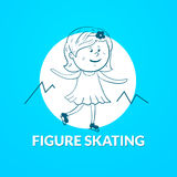 Figure skating vector logo Royalty Free Stock Photos