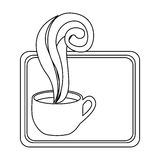 Figure small squard symbol of coffee cup. Illustraction design Stock Images