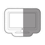 Figure smart tv modern technology Royalty Free Stock Photo
