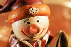 Figure of a snow-man Royalty Free Stock Photography