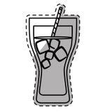 Figure soda glass icon design Stock Photo