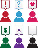 Figure Speech Bubble Symbols Royalty Free Stock Image