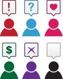 Figure Speech Bubble Symbols Royalty Free Stock Image