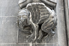 A figure of sphinx as a decor element of the New Town Hall, Muni Royalty Free Stock Photography