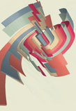 Figure a spirale astratte in 3D Fotografie Stock