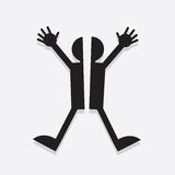 Figure Split. Silhouette figure split in half Royalty Free Stock Image