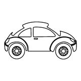 Figure sport car side icon. Illustration design Royalty Free Stock Photography