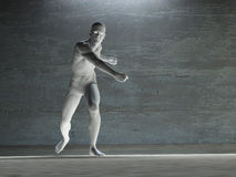 Figure sportive dans le blanc Photo libre de droits