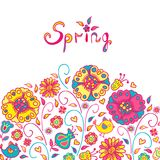 Figure spring flowers. Colorful background Stock Photo