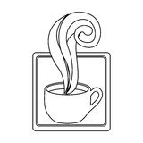Figure squard symbol of coffee cup. Illustraction design image Stock Photography