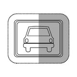 Figure square with car front inside Stock Photography