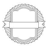Figure square emblem icon Stock Images