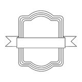 Figure square emblem icon Royalty Free Stock Images