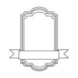 Figure square emblem icon Stock Image