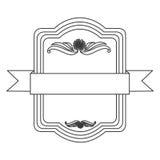 Figure square emblem icon Royalty Free Stock Photos