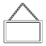 Figure square painting frame icon Royalty Free Stock Photos