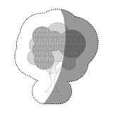 Figure stamp beautiful tree icon. Illustraction design image Royalty Free Stock Images