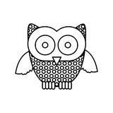 Figure stamp owl icon. Illustraction design image Royalty Free Stock Photography