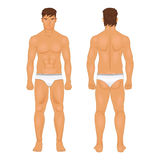 Figure of the standing man in front and behind vector Royalty Free Stock Photo