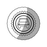 Figure star emblem front car icon. Illustration design Stock Image
