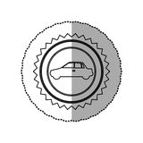 Figure star emblem side car icon. Illustration design Royalty Free Stock Photos