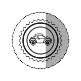 Figure star emblem sport car side icon. Illustration design Stock Photo