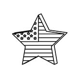 Figure star independece day flag icon. Figure independece day flag icon,  illustraction design Stock Image