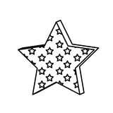 Figure star with many stars inside icon. Illustraction design image Stock Photo