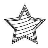 Figure star with stripes independece day icon. Illustraction design Stock Image