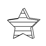 Figure star with stripes independece day icon. Illustraction design Royalty Free Stock Photography