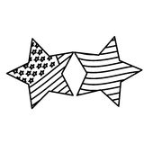 Figure stars with stars and stripes icon. Illustraction design Stock Images