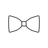 Figure sticker bow tie icon Royalty Free Stock Photos